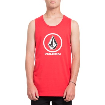 T-shirt sans manches rouge Crisp Stone True Red Volcom