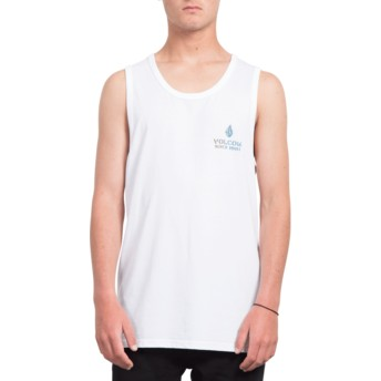 T-shirt sans manches blanc Peace Is Progess White Volcom