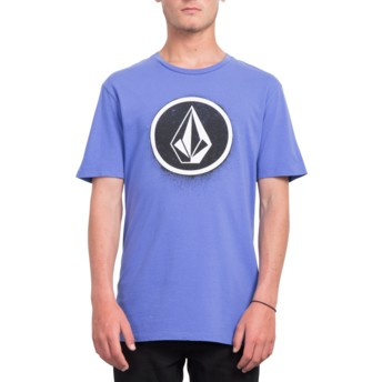 T-shirt à manche courte violet Spray Stone Dark Purple Volcom