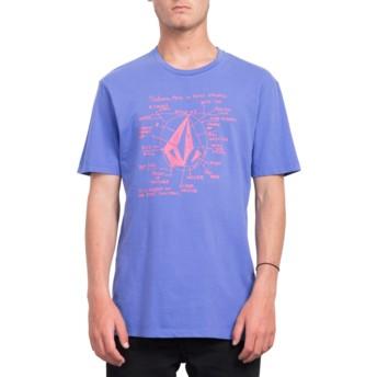 T-shirt à manche courte violet Diagram Dark Purple Volcom