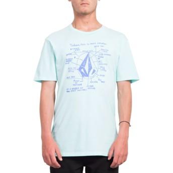 T-shirt à manche courte bleu Diagram Pale Aqua Volcom