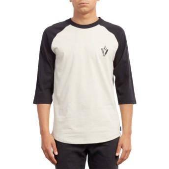 T-shirt à manche 3/4 blanc et noir Cutout Black Volcom