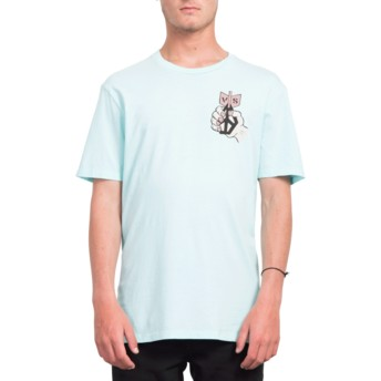 T-shirt à manche courte bleu Check Two Pale Aqua Volcom