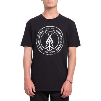 T-shirt à manche courte noir Peace Scissors Black Volcom