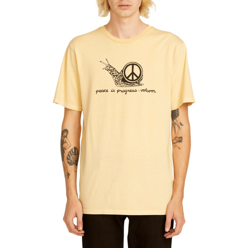 t-shirt-a-manche-courte-orange-peace-is-progress-light-peach-volcom