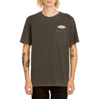 T-shirt à manche courte noir Oval Patch Black Volcom
