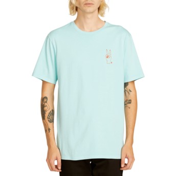 T-shirt à manche courte bleu Good Luck Pale Aqua Volcom