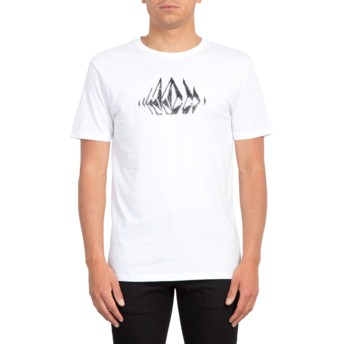 T-shirt à manche courte blanc Stone Sounds White Volcom