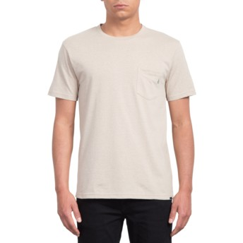 T-shirt à manche courte beige Heather Oatmeal Volcom