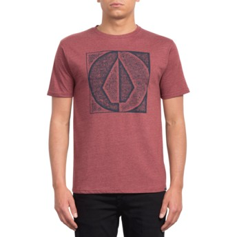 T-shirt à manche courte rouge Stamp Divide Crimson Volcom