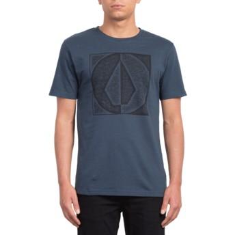 T-shirt à manche courte bleu marine Stamp Divide Indigo Volcom