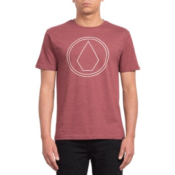 T-shirt à manche courte rouge Pin Stone Crimson Volcom
