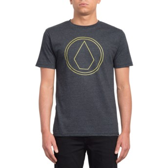T-shirt à manche courte noir Pin Stone Heather Black Volcom