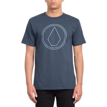 T-shirt à manche courte bleu marine Pin Stone Indigo Volcom