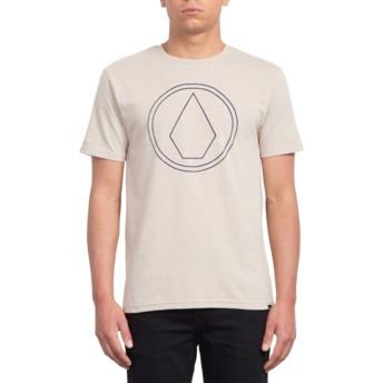T-shirt à manche courte beige Pin Stone Oatmeal Volcom
