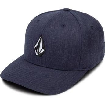 Casquette courbée bleue marine ajustée Full Stone Xfit Navy Heather Volcom