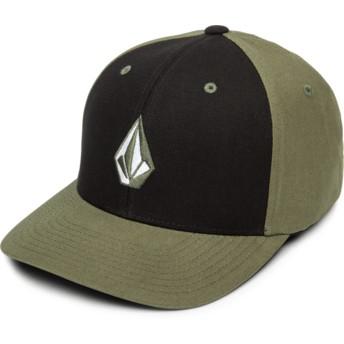 Casquette courbée noire et verte ajustée Full Stone Xfit Army Volcom