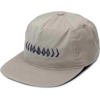 Casquette plate grise ajustable Stone Cycle Grey Volcom