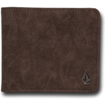 Portefeuille marron Slim Stone Dark Brown Volcom