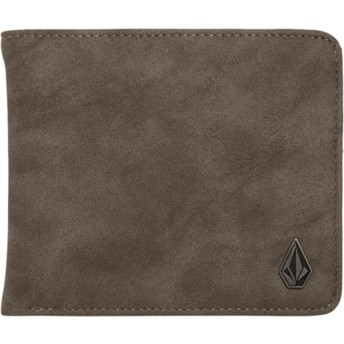 Portefeuille gris Slim Stone Pewter Volcom