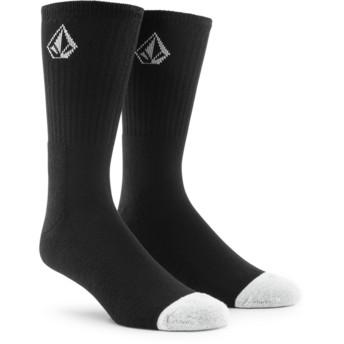 Chaussettes noires avec petit logo Full Stone Black Volcom