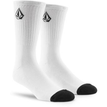 Chaussettes blanches avec petit logo Full Stone White Volcom