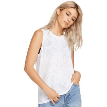 T-shirt sans manches blanc Geo Arty White Volcom