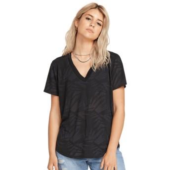 T-shirt à manche courte noir Geo Arty V-neck Black Volcom