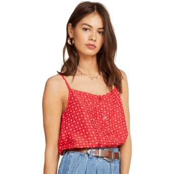 Blouse débardeur rouge Deep Tracks Red Volcom