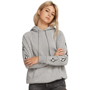 Sweat à capuche gris Deadly Stones Heather Grey Volcom