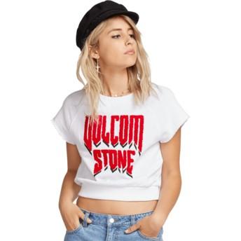T-shirt à manche courte blanc Drama Shift White Volcom
