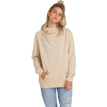 Sweat à capuche beige Walk On By Oxford Tan Volcom