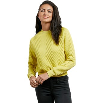 Sweat-shirt jaune Cozy Dayz Citron Volcom