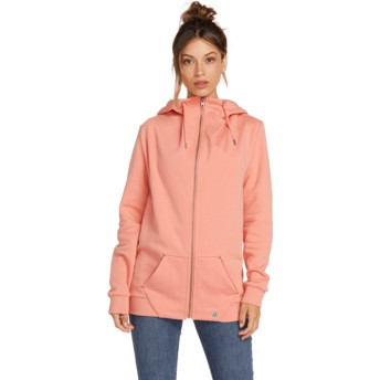 Sweat à capuche et fermeture éclair rose Walk On By Terra Cotta Volcom