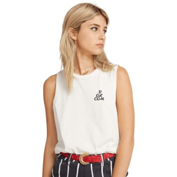 T-shirt sans manches blanc Volcom Love White Volcom