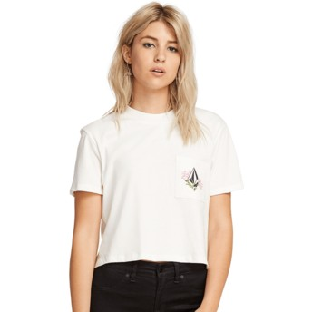 T-shirt à manche courte blanc Stone Grown White Volcom
