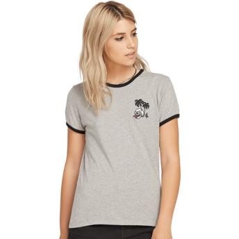 T-shirt à manche courte gris Keep Goin Ringer Heather Grey Volcom