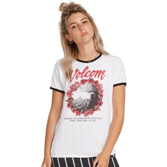 T-shirt à manche courte blanc Keep Goin Ringer White Volcom