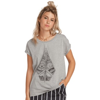 T-shirt à manche courte gris Radical Daze Heather Grey Volcom