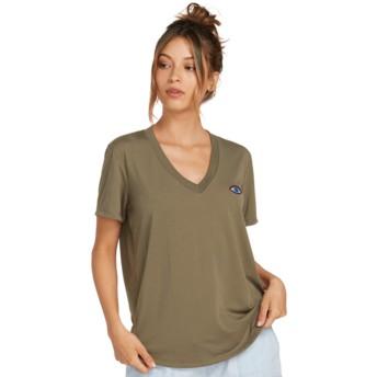 T-shirt à manche courte vert Volneck Army Green Combo Volcom