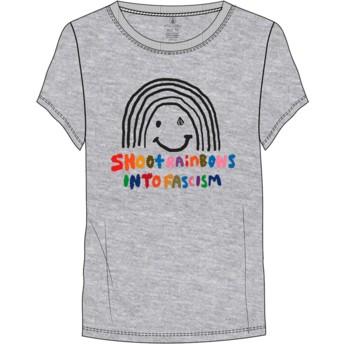 T-shirt à manche courte gris avec arc en ciel Easy Babe Rad 2 Heather Grey Volcom