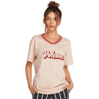 T-shirt à manche courte rose Becomce Mushroom Volcom
