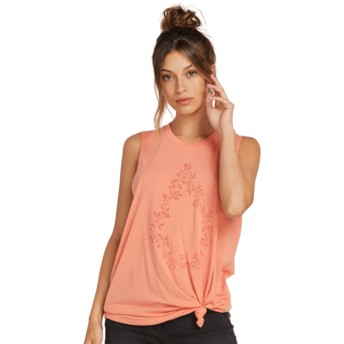 T-shirt sans manches rose Breaknot Terra Cotta Volcom