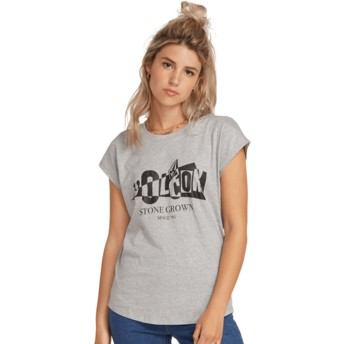 T-shirt à manche courte gris Dare Shirt Heather Grey Volcom