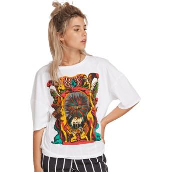 T-shirt à manche 3/4 blanc Stone Splif White Volcom