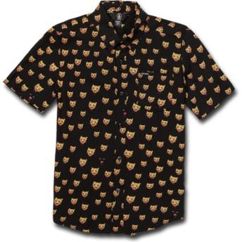 Chemise à manche courte noire pour enfant Ozzie Cat Black Volcom