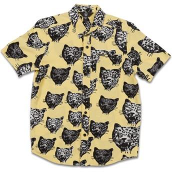Chemise à manche courte jaune pour enfant Ozzie Cat Lime Volcom
