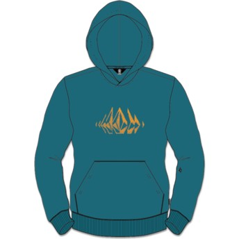 Sweat à capuche vert pour enfant Supply Stone Teal Volcom
