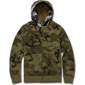 Sweat à capuche et fermeture éclair camouflage pour enfant Cool Stone Full Camouflage Volcom
