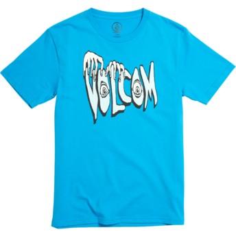 T-shirt à manche courte bleu pour enfant Volcom Panic Division Cyan Blue Volcom